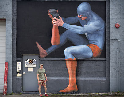 """Pebbles"" Superhero – Street art project"