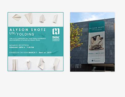 Exhibition Graphic Design - Alyson Shotz: Un/folding