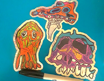 Spring 2020 Monster Stickers