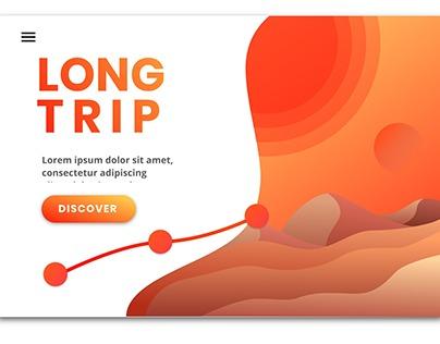 Homepage design in Gravit Designer. Tutorial