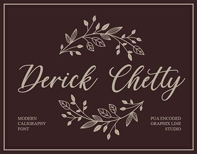 Derick Chetty Script Handwritten Font