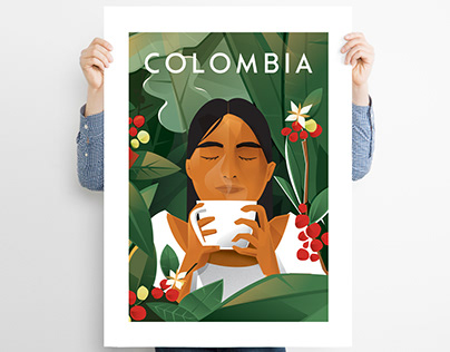 Affiches Mon voyage en Colombie