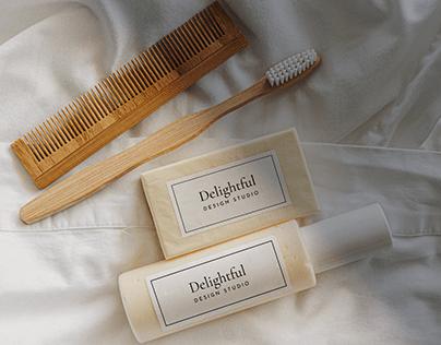 Free Shampoo & Soap (Toiletries & cosmetics) PSD Mockup