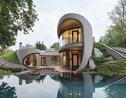 Organic House in Moscow designed by Niko Architect