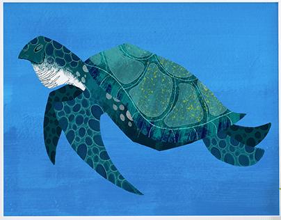 Sea Turtle Speed Paint- Art of David Ben