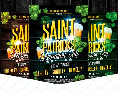 St. Patricks Celebration Party Flyer