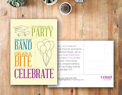 Postcard: Graduation Invitation