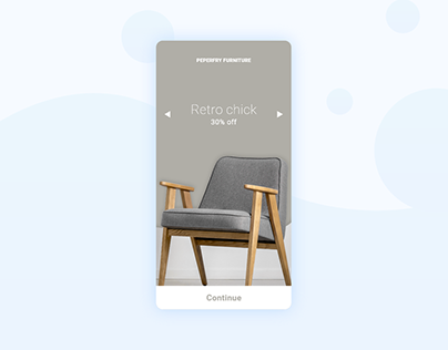 Daily UI 10 onbording for furniture app