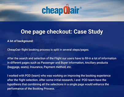ChepOair - One Step Checkout Case Study