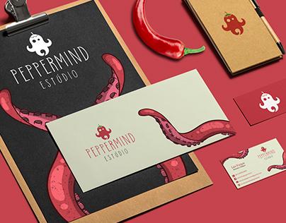Peppermind Estúdio - Logo e identidade visual