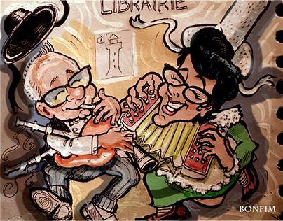 Chez Constance- Création de caricatures et affiche