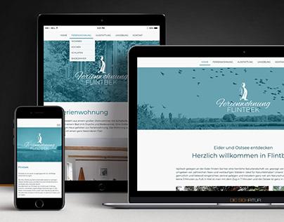 Ferienwohnung Flintbek - Logo Design - Webseite