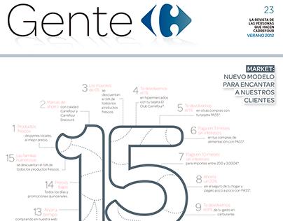 GENTE:  revista interna Carrefour 2012
