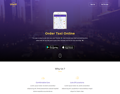Taxi Booking Landing Page