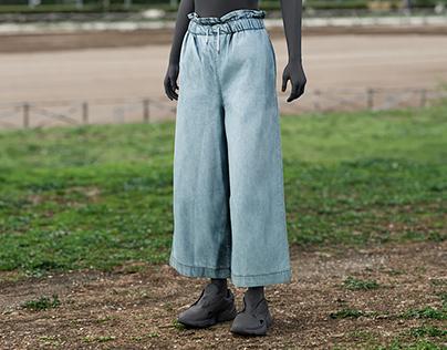 Realistic 3D model of Women's Pants