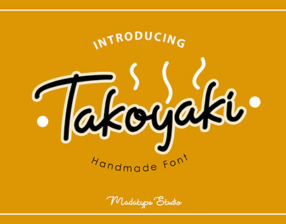 Takoyaki Handmade Font