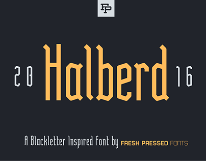 Halberd Display Font