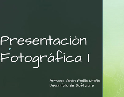 Presentación Fotográfica I