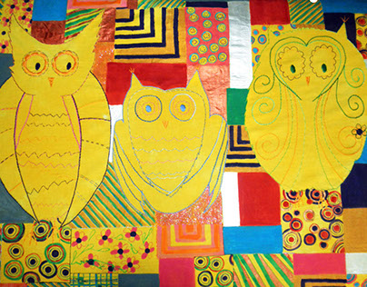 Three Owls bed cover