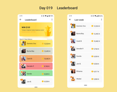 Daily UI-Day19,20- Leaderboard, Location tracker