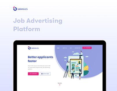 TalentAds - Website Landing Design