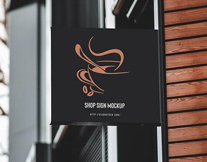 Free Shop Sign Mockup