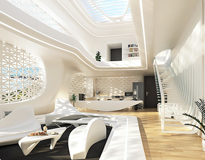 Organic Interior Concept Of An Apartment