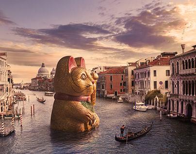 Venetian Maneki-neko (made with Affinity Photo®)
