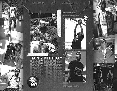 Birthday Graphic - Willie Cauley-Stein - YMAPAA