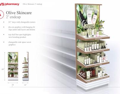 OLIVE Skincare ® CVS Endcap