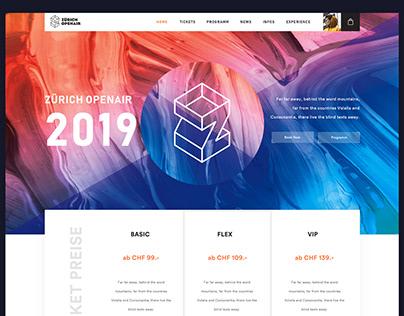 Zurich Openair Website redesign