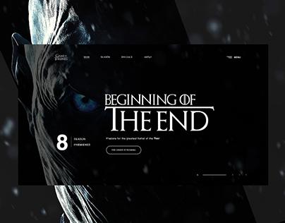 Conceptual GameofThrone Landing page