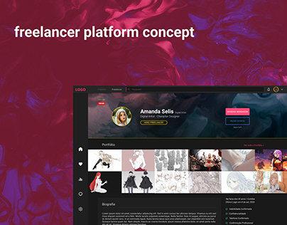 freelance platform concept