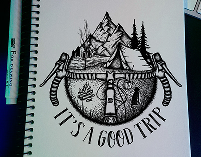 It's a good trip, vector illustration