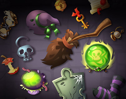 Game assets for Halloween Game
