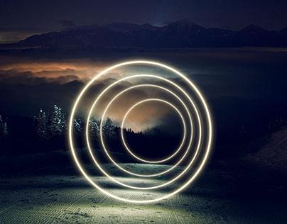 circles and snow