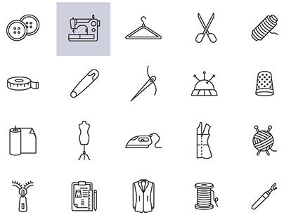 Seamstress Vector Icons