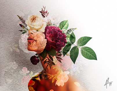 Floral composition portraits
