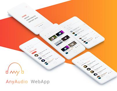 AnyAudio WebApp