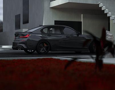 Custom CGI BMW m3 g20 2019 yin yang style