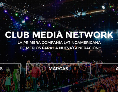 Club Media Network | Rediseño de sitio web
