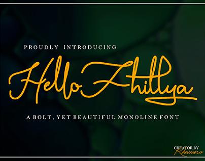 Hello Fhillya - FREE SCRIPT FONT