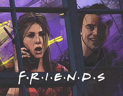 FRIENDS, NETFLIX. Alternative poster
