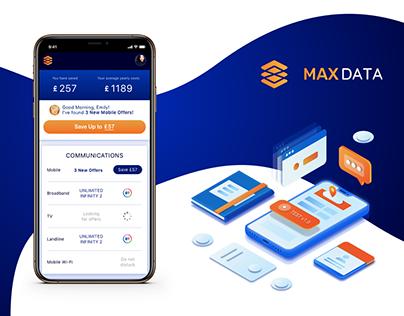 MaxData: Dashboard & App