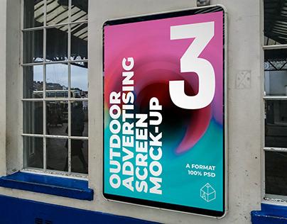 Outdoor Advertising Screen Mock-Ups 17