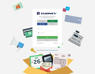 EMoney web pages