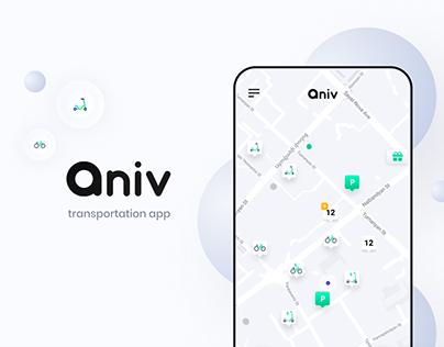 Mobile App for transportation   Aniv   UX/UI