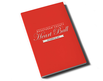 American Heart Association Heart Ball program + invite