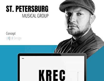 Web-сайт для музыкальной группы Krec