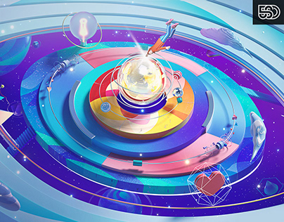 腾讯2021实习招聘主视觉|Tencent Intern Recruitment Visual Design